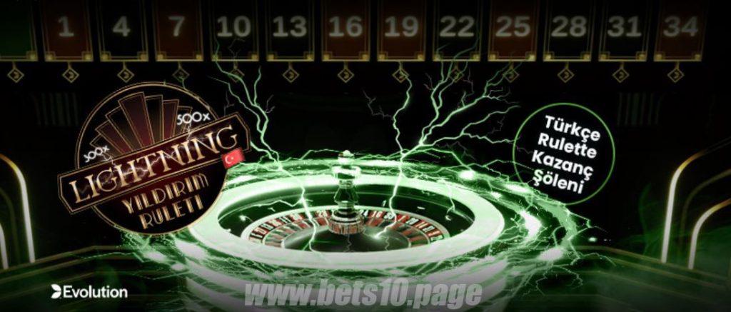 567Best10 - Türkçe Lightning Rulet ile 250.000TL Nakit Ödül Kazan